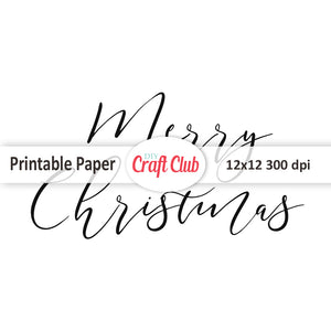 Merry Christmas printable quote