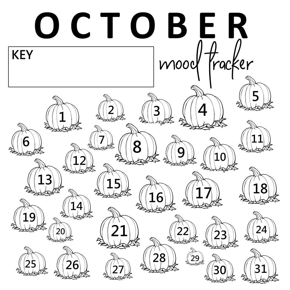 graphic about Printable Mood Tracker named Oct Temper Tracker Printables - Do-it-yourself Craft Club