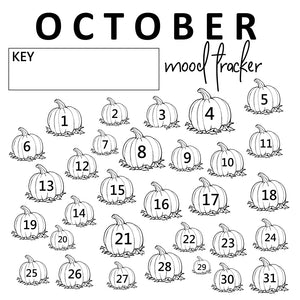 october mood tracker printable