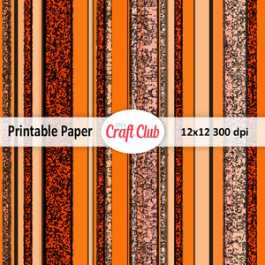 orange stiped scrapbooking paper to print
