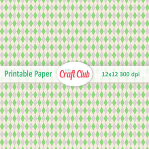 green pattern scrapbooking paper