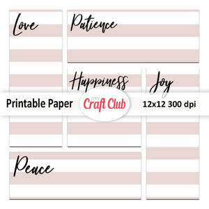 printable quote paper lined