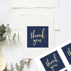 blue and gold thank you stickers to print
