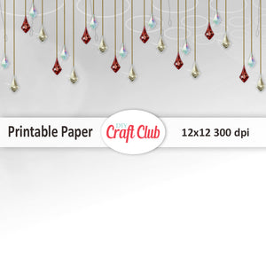 Printable Christmas paper for gift wrapping