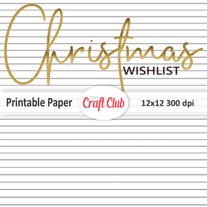 Christmas wishlist printable lined paper