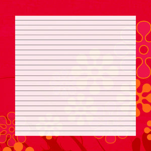 printable floral lined paper