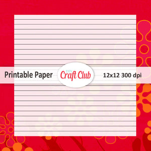 Lined paper to print floral