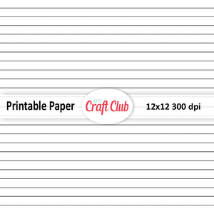 plain lined paper to print