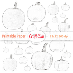 Printable pumpkin sticker sheet