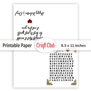 valentine's day card printables