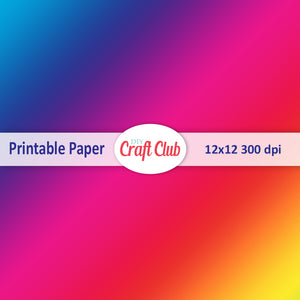 rainbow paper to print gradient