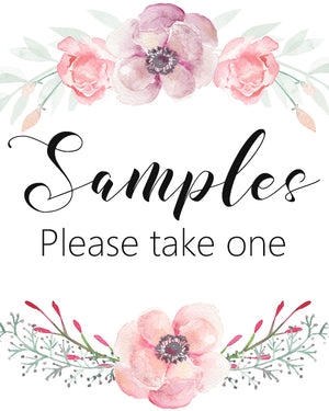 Samples | Please Take One Printable