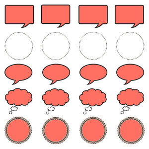 printable paper speech bubbles