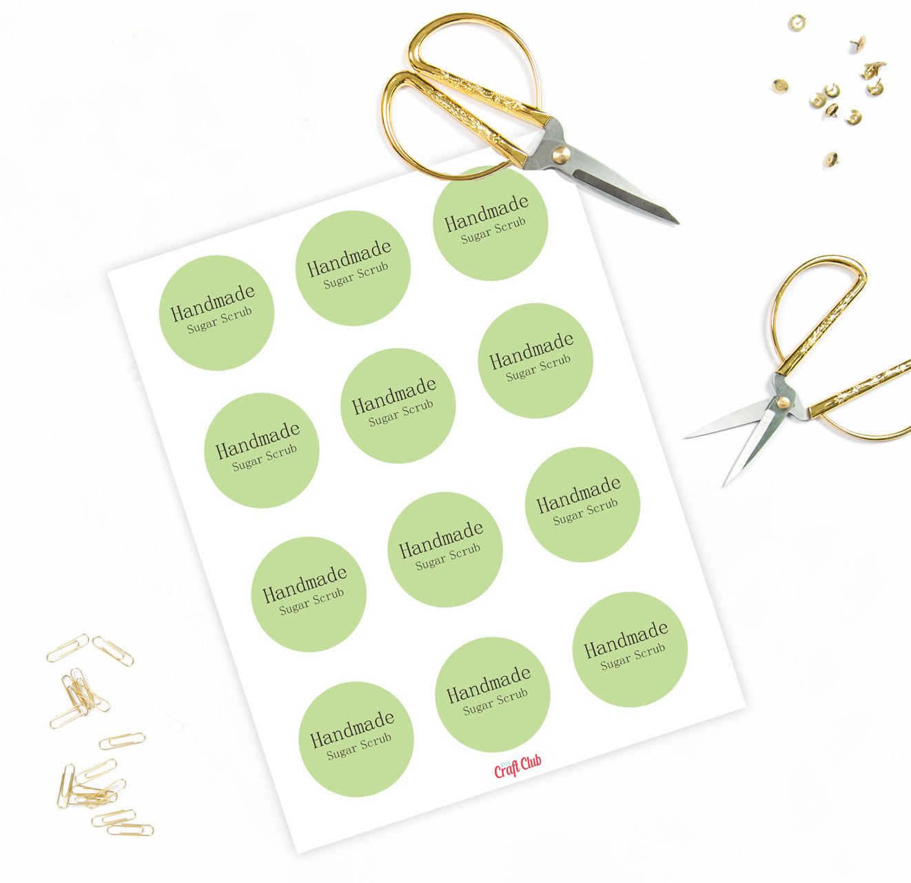 image about Mason Jar Printable Labels called Sugar Scrub Printable Labels For Mason Jar Lid - Do it yourself Craft Club