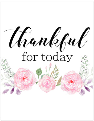 thankful for today printable wall art