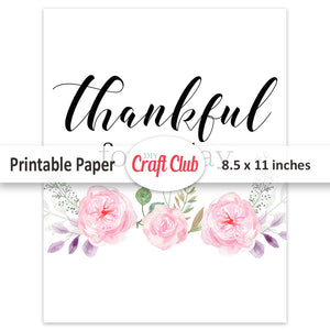 thankful for today printable