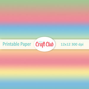 Unicorn gradient paper to print