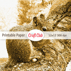 cute squirrel printable paper