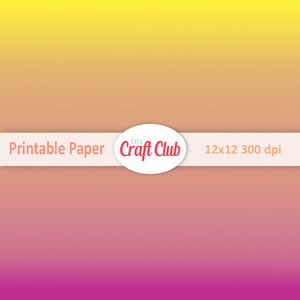 ombre and gradient printable paper