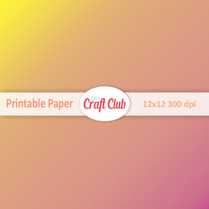 yellow and pink gradient paper