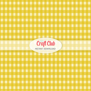 yellow gingham paper to print