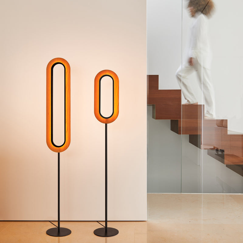 Lens Superoval Floor Lamp