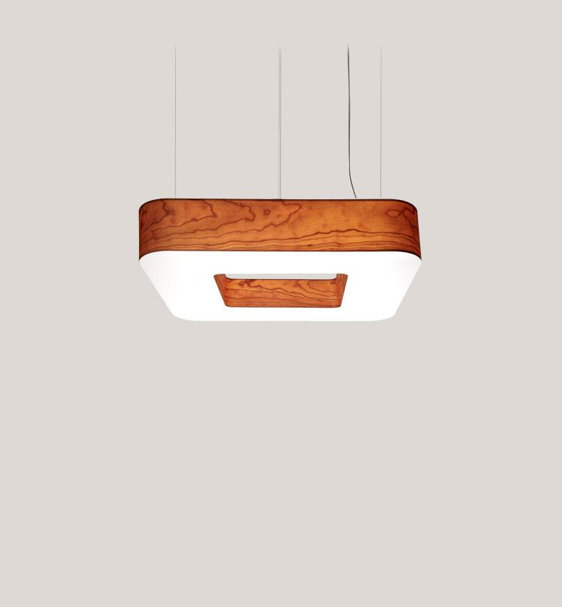 Cuad Pendant Led 0-10V Dimmable / Cherry