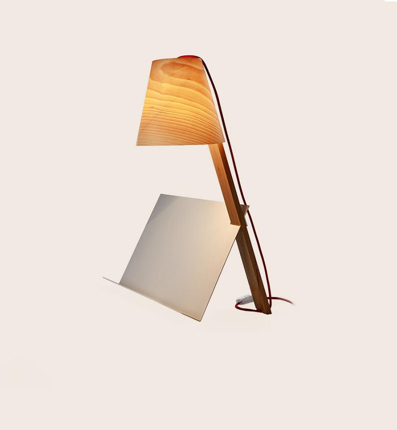 Asterisco Lamp 22 - Beech Table