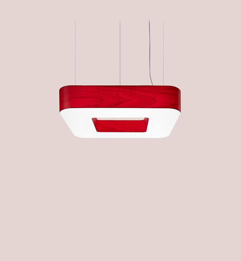 Cuad Pendant Led 0-10V Dimmable / Red