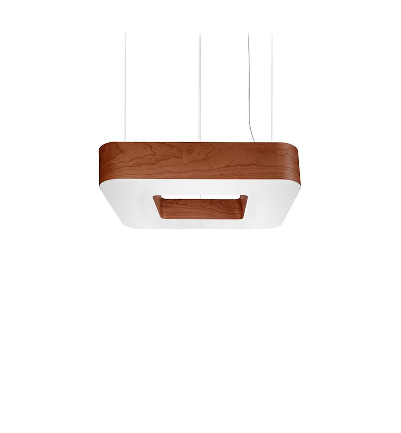 Cuad Pendant Led 0-10V Dimmable / Chocolate