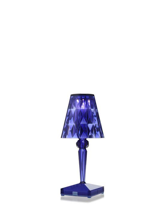 Battery Lamp Transparent / Blue Table