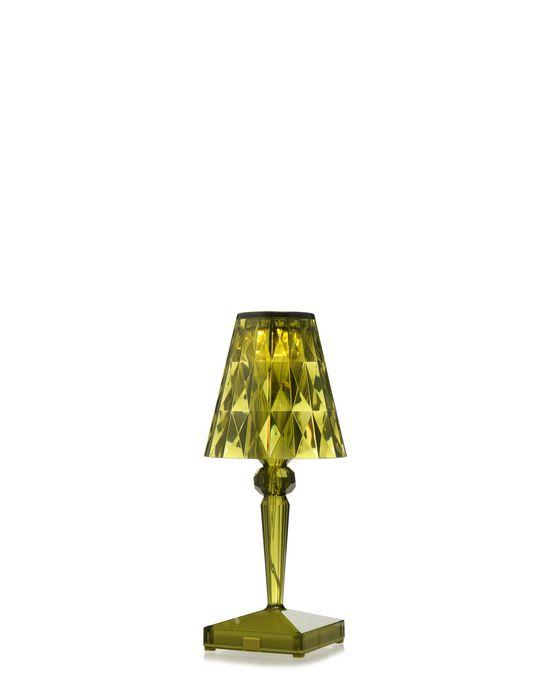 Battery Lamp Transparent / Green Table