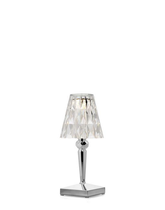 Battery Lamp Metallic / Chrome Table