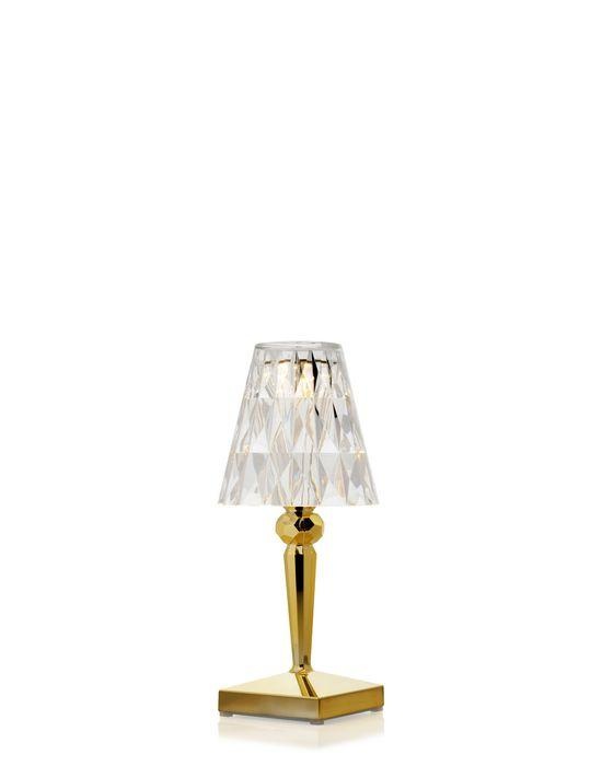 Battery Lamp Metallic / Gold Table