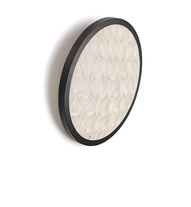 Cervantes Wall Light Led Dimmable / Matt Black Ivory White