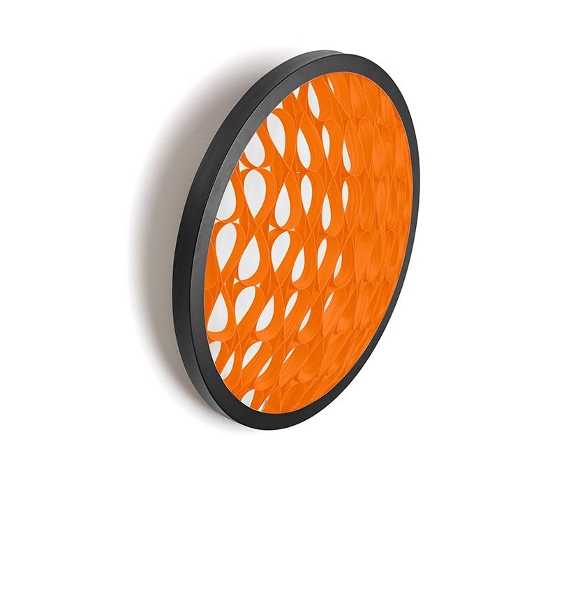 Cervantes Wall Light Led Dimmable / Matt Black Orange