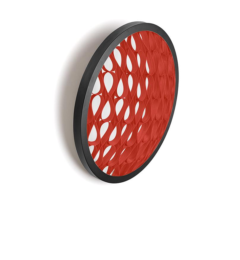 Cervantes Wall Light Led Dimmable / Matt Black Red