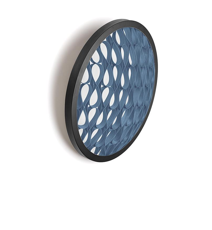 Cervantes Wall Light Led Dimmable / Matt Black Blue