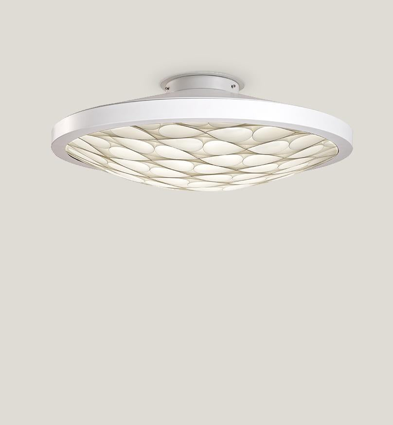Cervantes Ceiling Light Led Dimmable / Matt White Ivory
