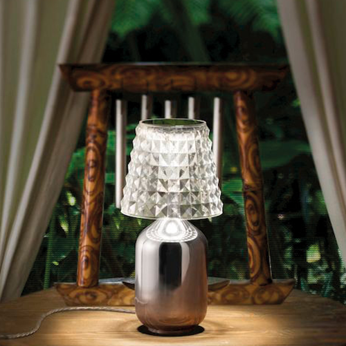 Valentina Table Lamp (W/plug) / Chrome