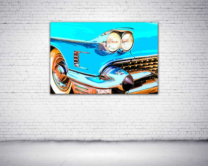 Classic Car Canvas Print 24x36""