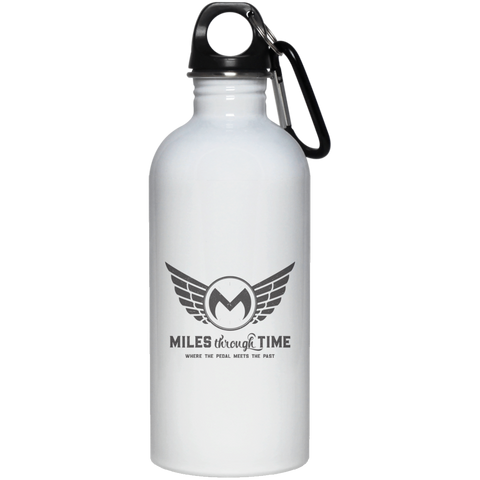 Miles Through Time Logo 20 oz. Stainless Steel Water Bottle