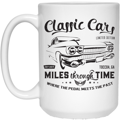 Classic Cars Limited Edition 15 oz. White Mug