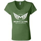Miles Through Time Logo Womens' Jersey V-Neck T-Shirt