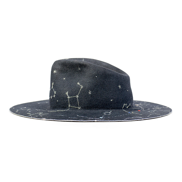 Night Sky - Your night sky charted onto a hat