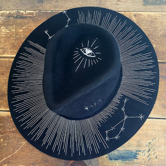 Halo Hat with Astrological Signs & Symbol