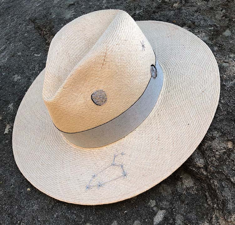 Custom Moon Astro Hat (straw)
