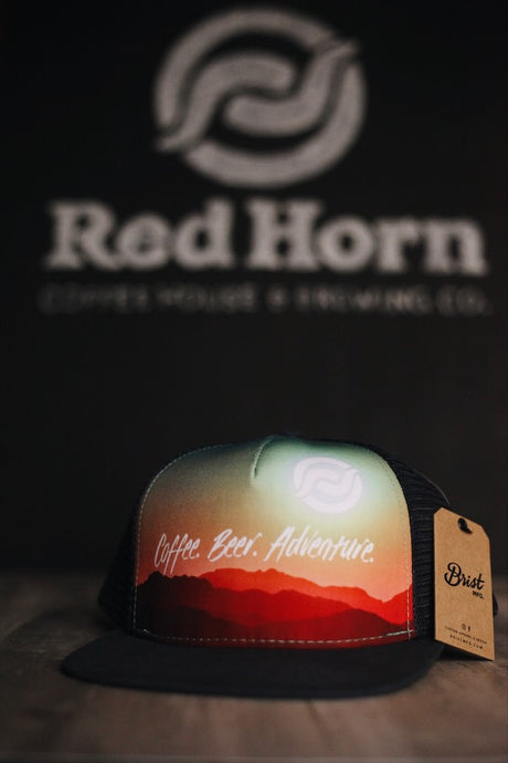 Coffee. Beer. Adventure. Screen Print Hat