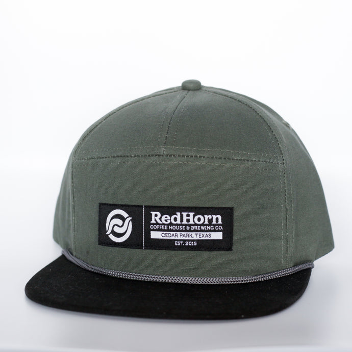 7 Panel Army Green Hat