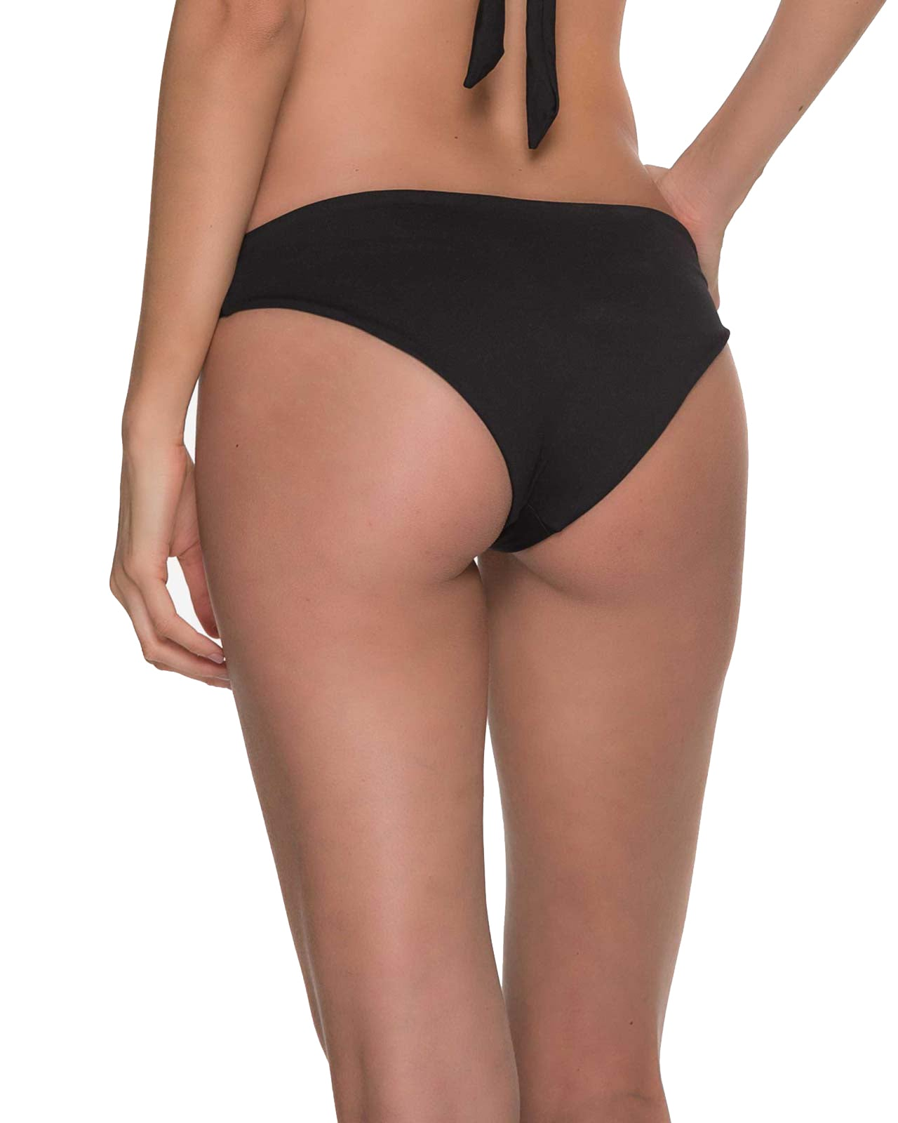 AWE FISHBONE ONIX RUCHED BOTTOM